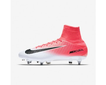 Chaussure Nike Mercurial Veloce Iii Dynamic Fit Sg-Pro Pour Homme Football Rose Coureur/Blanc/Noir_NO. 831962-601