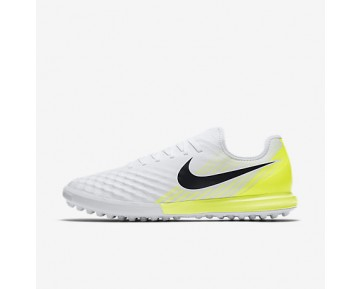 Chaussure Nike Magistax Finale Ii Tf Pour Homme Football Blanc/Volt/Noir_NO. 844446-107