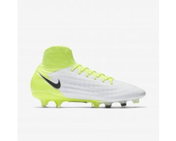 Chaussure Nike Magista Orden Ii Fg Pour Homme Football Blanc/Volt/Platine Pur/Noir_NO. 843812-109