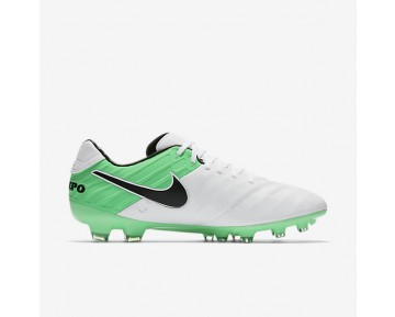 Chaussure Nike Tiempo Legacy Ii Fg Pour Homme Football Blanc/Vert Electro/Noir_NO. 819218-103