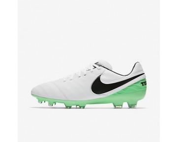 Chaussure Nike Tiempo Legacy Ii Fg Pour Homme Football Blanc/Vert Electro/Noir_NO. 819218-103