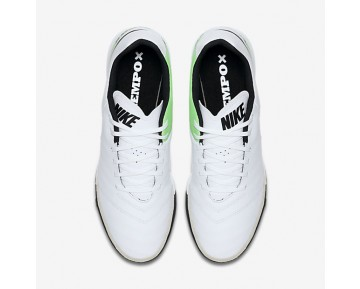Chaussure Nike Tiempox Genio Ii Leather Tf Pour Homme Football Blanc/Vert Electro/Noir_NO. 819216-103
