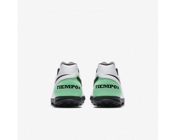 Chaussure Nike Tiempo Rio Iii Pour Homme Football Blanc/Vert Electro/Noir_NO. 819237-103