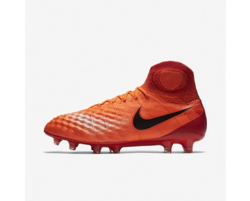 Chaussure Nike Magista Obra Ii Fg Pour Homme Football Cramoisi Total/Rouge Université/Mangue Brillant/Noir_NO. 844595-806