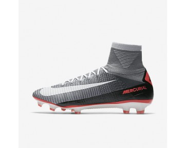 Chaussure Nike Mercurial Superfly V Fg Pour Homme Football Gris Loup/Platine Pur/Infrarouge/Blanc_NO. 852512-010