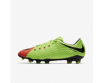 Chaussure Nike Hypervenom Phelon 3 Fg Pour Homme Football Vert Électrique/Hyper Orange/Volt/Noir_NO. 852556-308