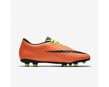 Chaussure Nike Hypervenom Phade 3 Fg Pour Homme Football Vert Électrique/Hyper Orange/Volt/Noir_NO. 852547-308
