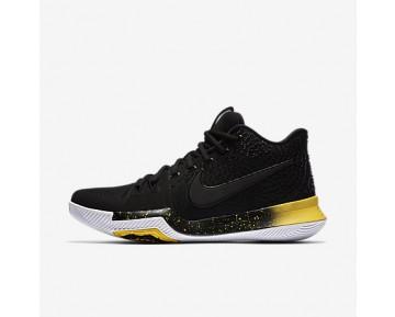 Chaussure Nike Kyrie 3 Pour Homme Basketball Noir/Jaune/Noir_NO. 852395-901