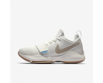 Chaussure Nike Pg1 Pour Homme Basketball Ivoire/Gomme Marron Clair/Ciel Éclatant/Flocons D'Avoine_NO. 878627-110