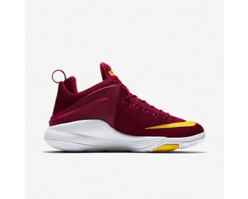 Chaussure Nike Lebron Witness Pour Homme Basketball Rouge Équipe/Blanc/Or Université_NO. 852439-601