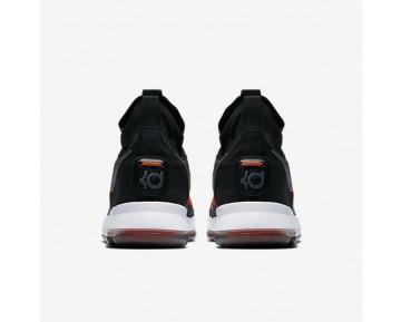 Chaussure Nike Zoom Kd 9 Elite Pour Homme Basketball Noir/Gris Foncé/Hyper Orange/Blanc_NO. 878637-010