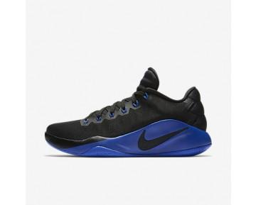 Chaussure Nike Hyperdunk 2016 Low Pour Homme Basketball Noir/Gris Foncé/Bleu Électrique_NO. 844363-040